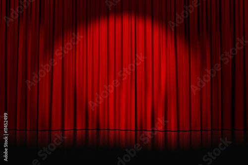 Fototapeta rideaux rouges fermés