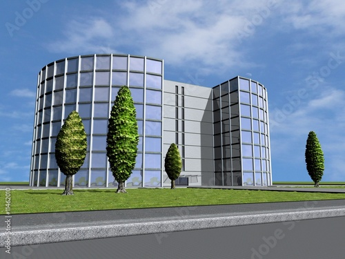 Immeuble administratif Billede på lærred
