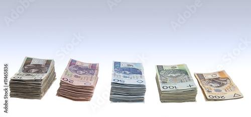 Fotomural Stacks of polish zlotys