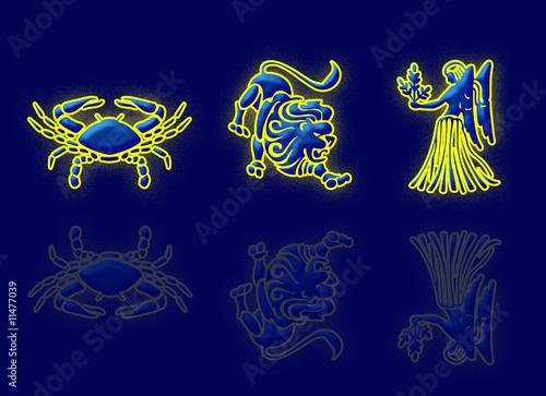 zodiac: cancer, leo & virgo - Buy this stock illustration