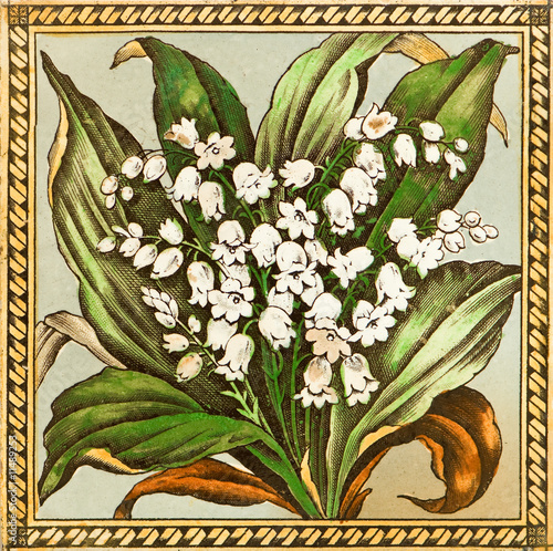 Wall Murals Lily of the valley Lily of the Valley Tile