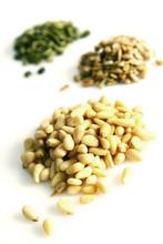 Pine Nuts, Pumpkin And Sunflower Seeds