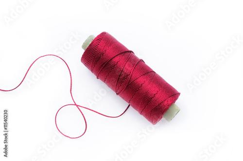 Wallpaper Mural Red silk thread
