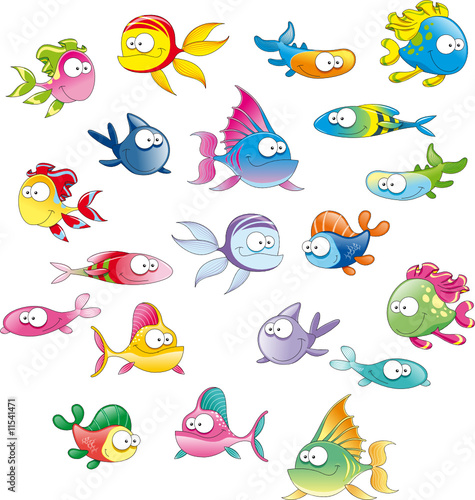 Photo Stands kids room Family of fish