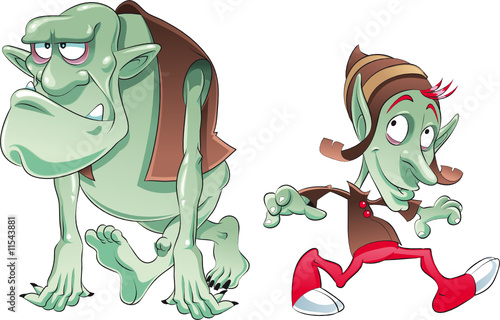 Poster Chambre d enfant Ogre and Elf