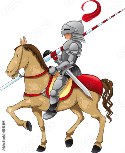 Canvas Prints Knights Knight and Horse
