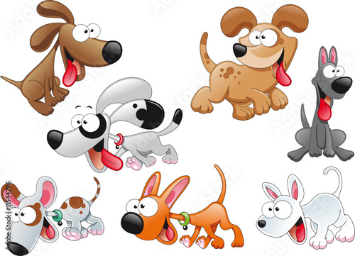 Recess Fitting kids room Family of dogs