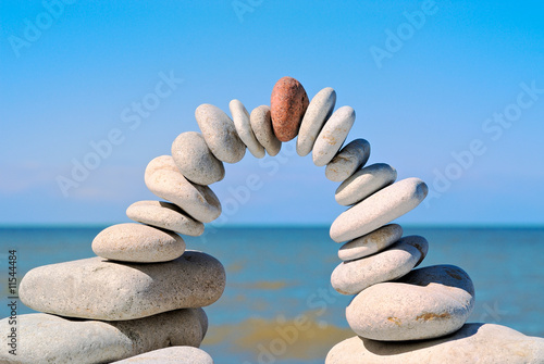 Acrylic Prints Stones in Sand Red on top