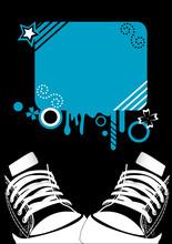 Grunge Illustration Of Sneaker...