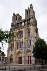 Fototapeta Paryż Notre Dame Collegiate Church in Mantes-la-Jolie, France