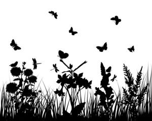 Naklejkagrass silhouette