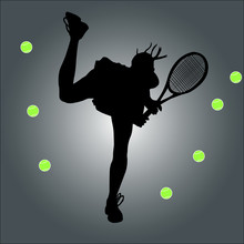 Tennis Player - Vector