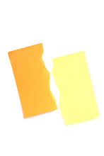 Torn Yellow And Orange Postits.