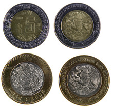 Two Mexican Peso Coins
