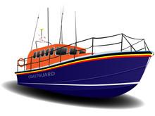 Orange And Blue Coastguard Lifeboat