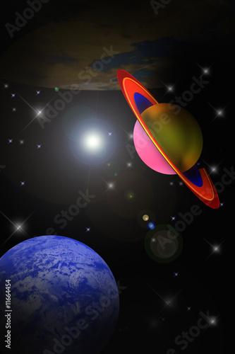Foto op Canvas Kosmos Komet