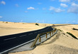 road acros desert of sahara