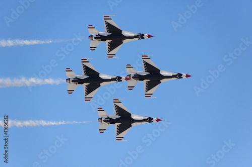 Fototapeta Military fighter aircraft flight demonstration