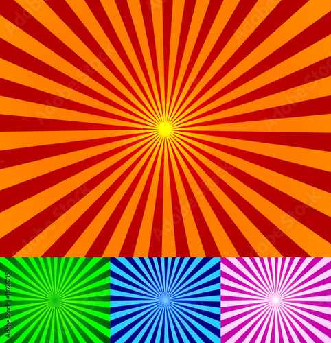 Poster Psychedelique Vector vintage rays background