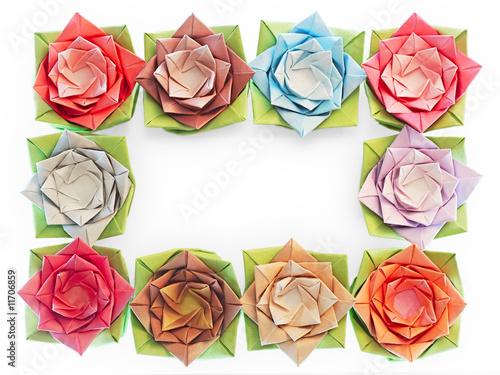 10 origami flowers decoration on a white background buy this stock 10 origami flowers decoration on a white background mightylinksfo