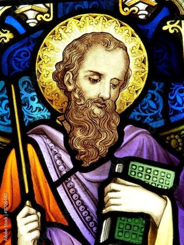 Photo  Saint James,stained glass window