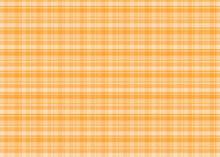 春のギンガムチェック柄 オレンジ