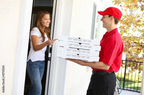 Fotografie, Obraz  Pizza Delivery
