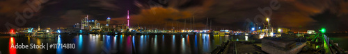 Auckland Skyline bei Nacht