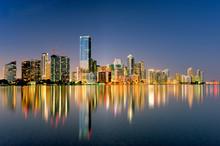 Miami Florida Skyline Illumina...