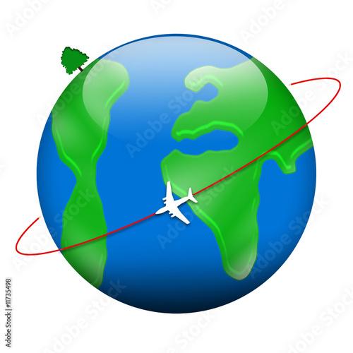 Fotografie, Obraz  L'aviation propre - fond blanc