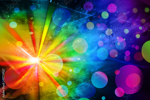 Canvas Prints Carnaval disco lights