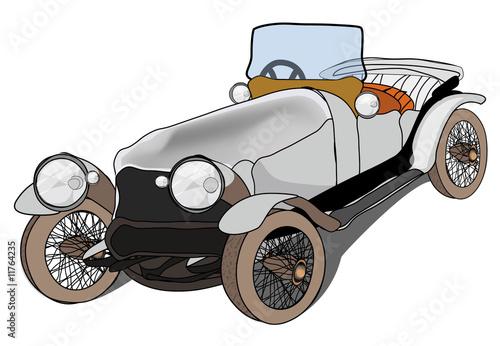 Deurstickers Oude auto s retro car