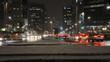 Autos bei Nacht.