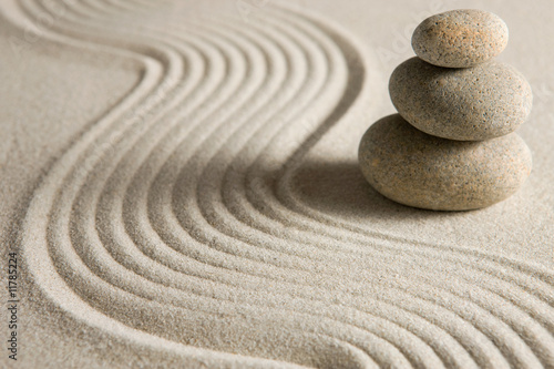 Printed kitchen splashbacks Stones in Sand Balance