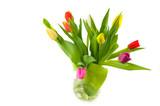 Fototapeta Tulipany - vase with tulips