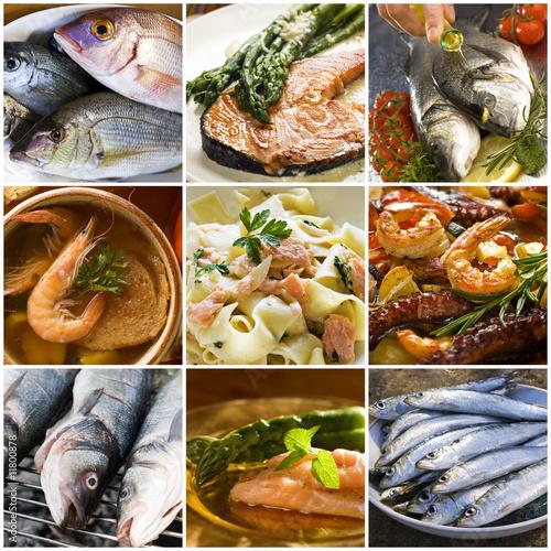 Papiers peints Poisson seafood