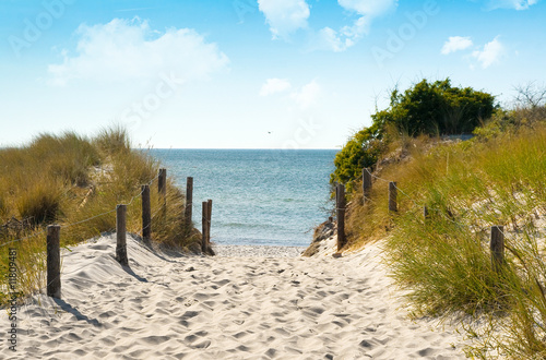 Foto-Schiebegardine Komplettsystem - Ostsee Düne