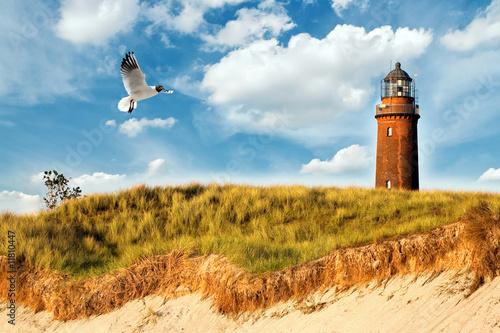 Ostsee Leuchtturm Fototapeta