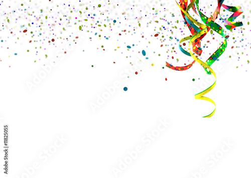 Staande foto Carnaval Party, Fete, Karneval, Geburtstag - Einladungskarte