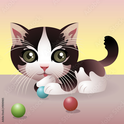 Wall Murals Cats Baby Animal collection: Kitten. More animals in my gallery