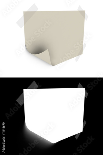 Fotografie, Obraz  3d rendered slip of paper with opacity mask for easily use