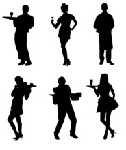 Waiters And Waitresses Silhouette Collection