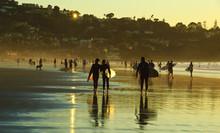 Surfer, LA Jolla Shore, San Dieog, California