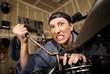 Funny Female Hispanic Mechanic