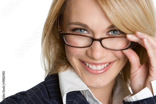 Fényképezés  Businesswoman Wearing Glasses