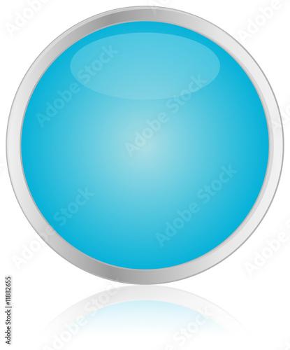 Round Blue Button
