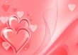 canvas print picture - St. Valentine hearts background