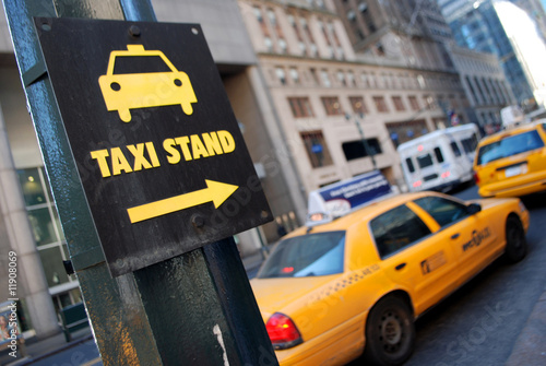 In de dag New York TAXI New York taxi stand