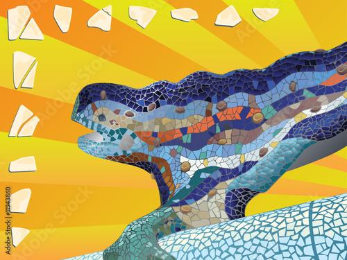 Photo  Gaudi_lizard_mosaic