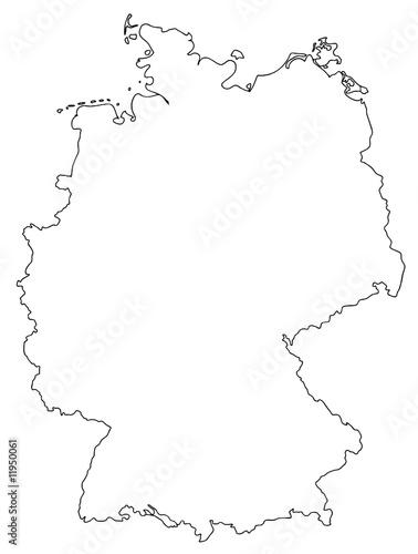 landkarte deutschland umriss deutschland karte umriss germany map   Buy this stock vector and